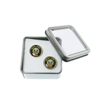 Load image into Gallery viewer, Altered Art Cufflinks - US Army Emblem - UrbanroseNYC