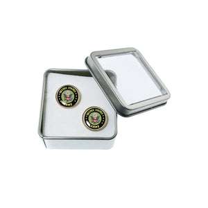 Altered Art Cufflinks - US Army Emblem - UrbanroseNYC