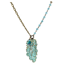 Load image into Gallery viewer, Verdigris Patina Art Nouveau Woman Pendant - UrbanroseNYC
