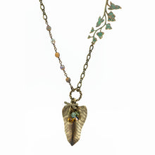 Load image into Gallery viewer, Vintage Style Leaf Pendant - Philodendron Leaf - UrbanroseNYC
