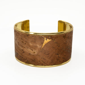 Portuguese Cork Channel Cuff - Chocolate Metallic - UrbanroseNYC