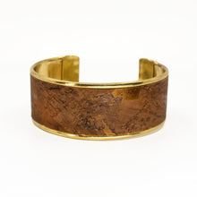 Load image into Gallery viewer, Portuguese Cork Channel Cuff - Chocolate Metallic - UrbanroseNYC