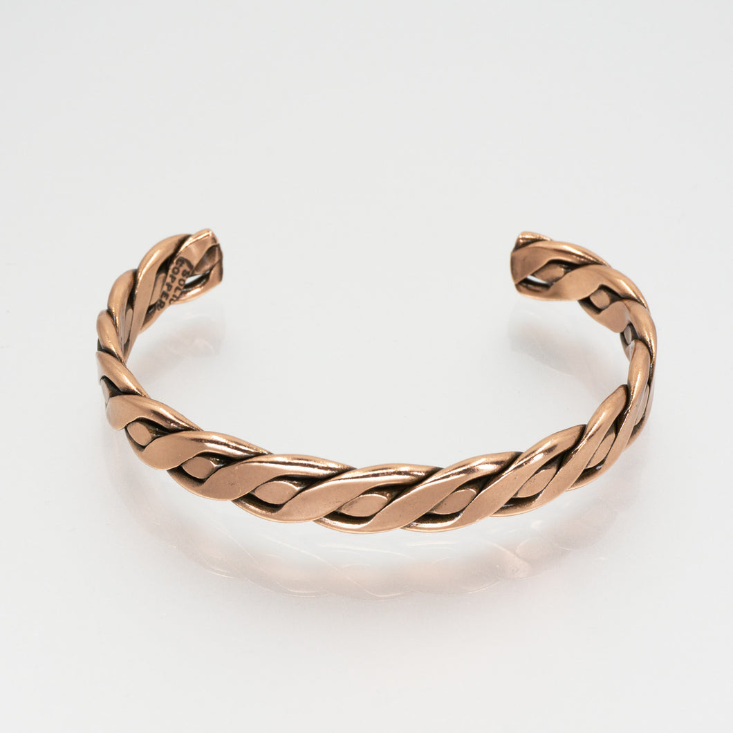 Solid Copper Bracelet - Women's Twisted Wire - UrbanroseNYC