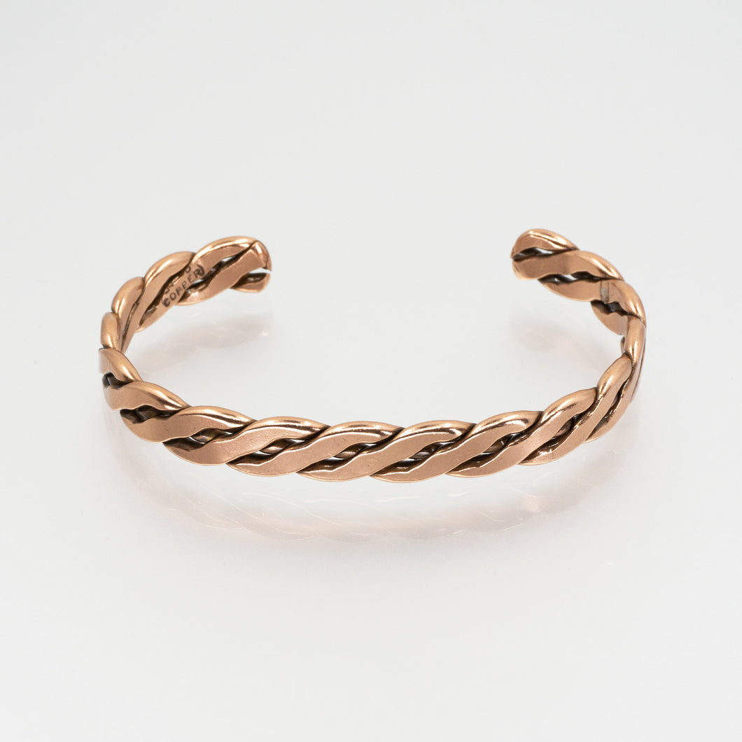 Solid Copper Bracelet - Women's Flattened Wire - UrbanroseNYC