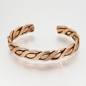 Solid Copper Bracelet - Men's Twisted Wire - UrbanroseNYC