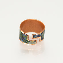 Load image into Gallery viewer, Copper Art Ring - Van Gogh Irises - UrbanroseNYC