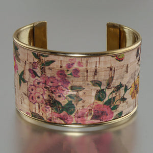 Portuguese Cork Channel Cuff - Dusty Rose - UrbanroseNYC