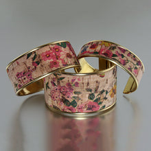 Load image into Gallery viewer, Portuguese Cork Channel Cuff - Dusty Rose - UrbanroseNYC