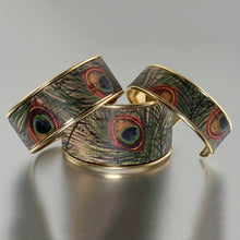 Load image into Gallery viewer, Portuguese Cork Channel Cuff - Peacock - UrbanroseNYC