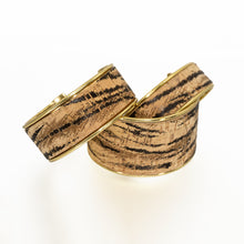Load image into Gallery viewer, Portuguese Cork Channel Cuff - Tiger Print - UrbanroseNYC