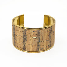 Load image into Gallery viewer, Portuguese Cork Cuff Bracelet - Birchwood - UrbanroseNYC