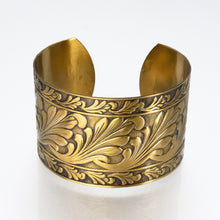 Load image into Gallery viewer, Solid Brass Cuff - Scroll Design - UrbanroseNYC
