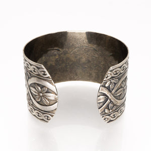 Solid Nickel Cuff - Flower Design - UrbanroseNYC
