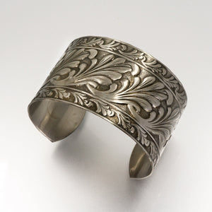 Solid Nickel Cuff - Scroll Design - UrbanroseNYC