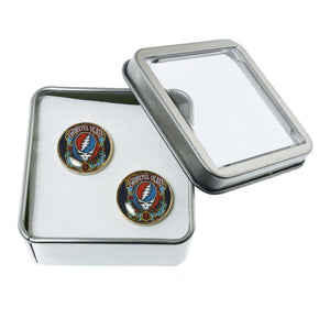 Altered Art Cufflinks - Steal Your Face - UrbanroseNYC