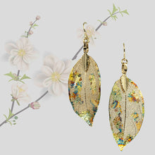 Load image into Gallery viewer, Real Leaf Earrings - Gilded, Gold - UrbanroseNYC