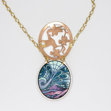 Load image into Gallery viewer, Copper Art Pendant - 2-Piece Cutout Hummingbird - UrbanroseNYC