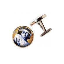 Load image into Gallery viewer, Altered Art Cufflinks - Jim Morrison - UrbanroseNYC