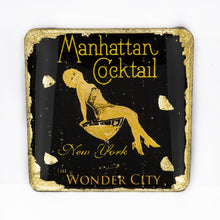 Load image into Gallery viewer, Gilded Coaster - Manhattan Cocktail - UrbanroseNYC
