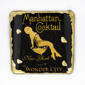Gilded Coaster - Manhattan Cocktail - UrbanroseNYC