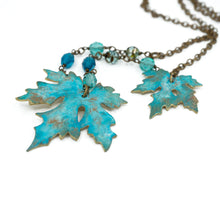 Load image into Gallery viewer, Patina Maple Leaf Necklace - UrbanroseNYC