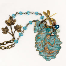 Load image into Gallery viewer, Verdigris Patina Art Nouveau Mermaid Pendant - UrbanroseNYC