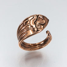Load image into Gallery viewer, Solid Copper Spoon Ring - Lilly Flower - UrbanroseNYC