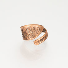Load image into Gallery viewer, Solid Copper Spoon Ring - Route 66 - UrbanroseNYC