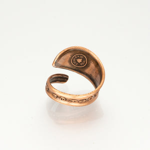 Solid Copper Spoon Ring - Route 66 - UrbanroseNYC