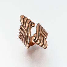 Load image into Gallery viewer, Solid Copper Wrap Ring - Scroll Design - UrbanroseNYC
