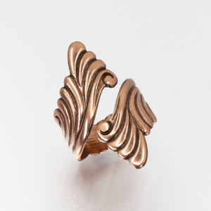 Solid Copper Wrap Ring - Scroll Design - UrbanroseNYC