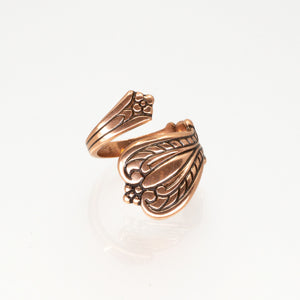 Solid Copper Spoon Ring - Plain Design - UrbanroseNYC