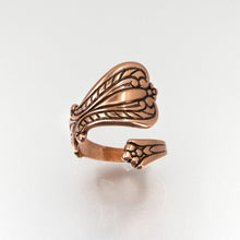 Load image into Gallery viewer, Solid Copper Spoon Ring - Plain Design - UrbanroseNYC