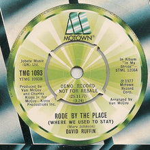 Load image into Gallery viewer, David Ruffin ‎– You're My Peace Of Mind - Promo