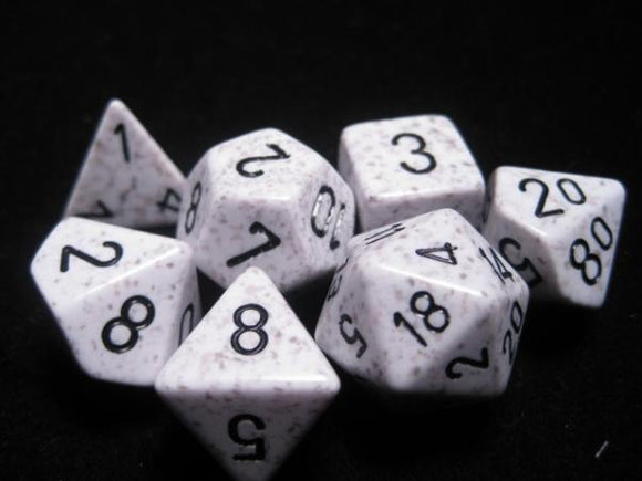 Chessex Dice: Speckled Polyhedral Set Artic Camo (7)