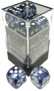 Chessex Dice: Nebula - 16mm D6 Black/White Block (12)