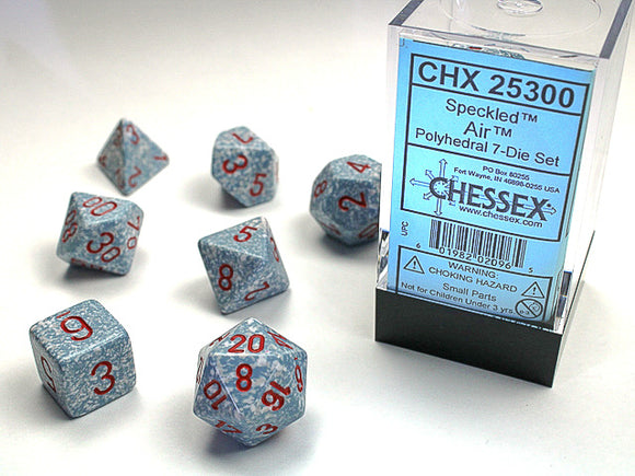 Chessex Dice: Speckled Polyhedral Set Air (7)