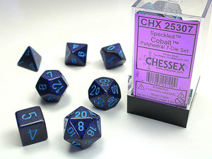 Chessex Dice: Speckled Polyhedral Set Cobalt (7)