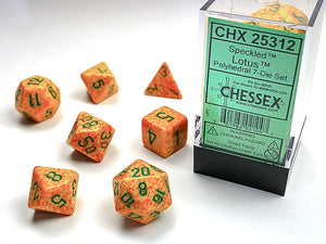 Chessex Dice: Speckled Polyhedral Set Lotus (7)