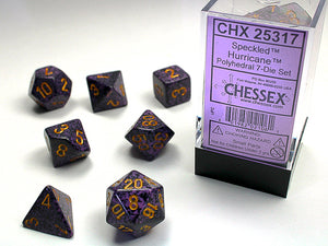 Chessex Dice: Speckled Polyhedral Set Hurricane (7)