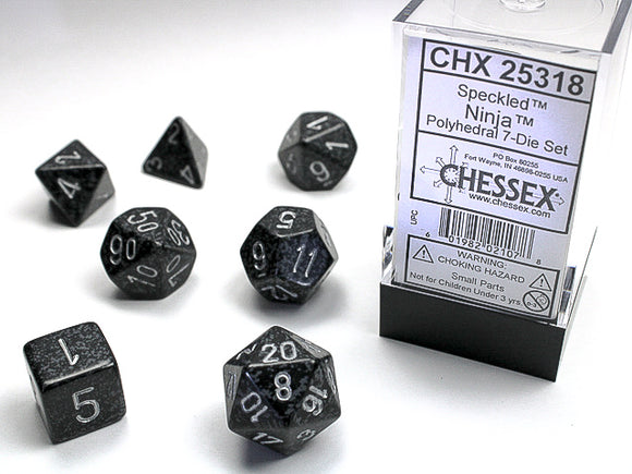 Chessex Dice: Speckled Polyhedral Set Ninja (7)