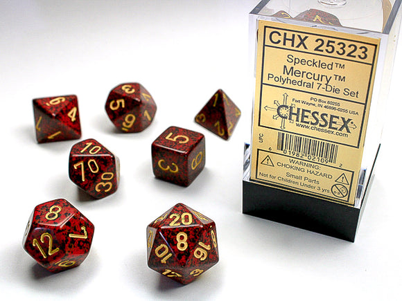Chessex Dice: Speckled Polyhedral Set Mercury (7)