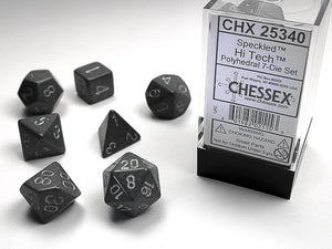 Chessex Dice: Speckled Polyhedral Set Hi-tech (7)