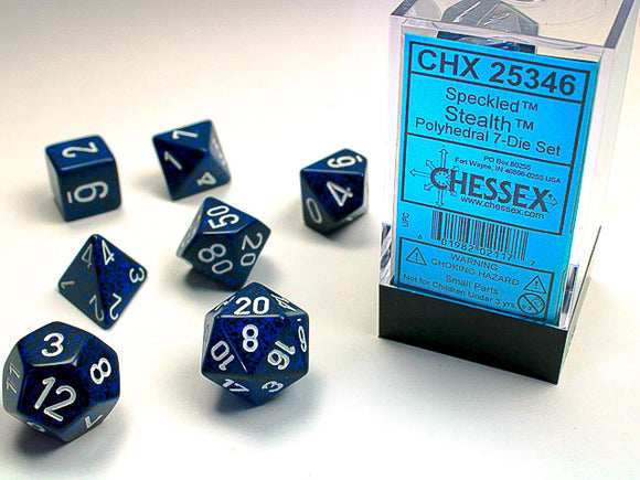 Chessex Dice: Speckled Polyhedral Set Stealth (7)