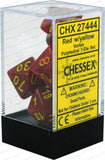 Chessex Dice: Vortex Polyhedral Set Red/Yellow (7)