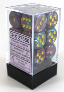 Chessex Dice: Vortex - 16mm D6 Mosaic Yellow (12)