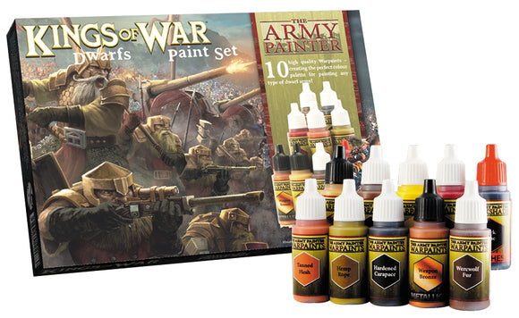 Army Painter Warpaints: Kings of War Dwarfs Paint Set (10)
