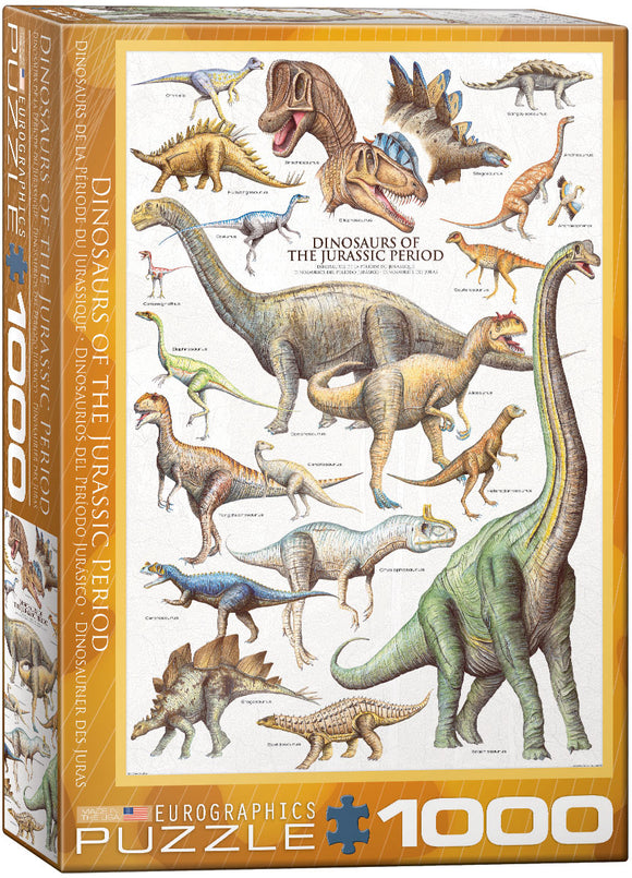 Puzzle: Natural History Charts - Dinosaurs of the Jurassic Period