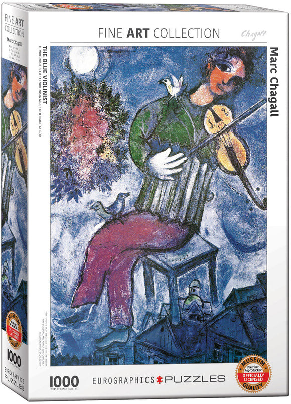 Puzzle: Fine Art Masterpieces - The Blue Violinist by Marc Chagall