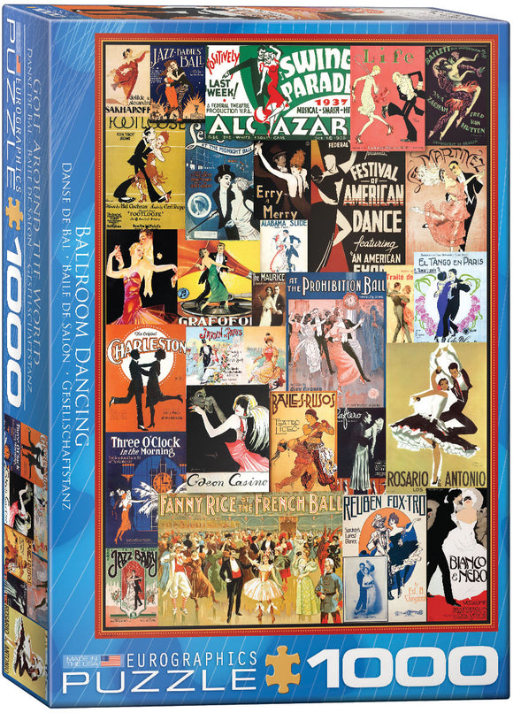 Puzzle: Vintage Art Collages - Ballroom Dancing